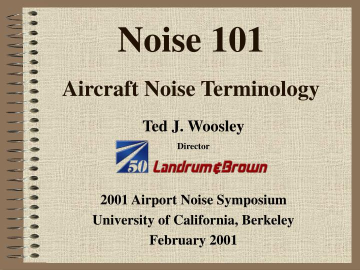 noise 101 aircraft noise terminology n.