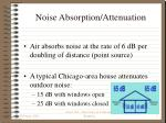 noise absorption attenuation