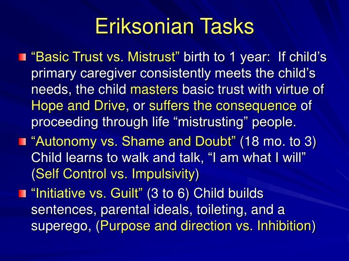 """Basic Trust vs. Mistrust"""