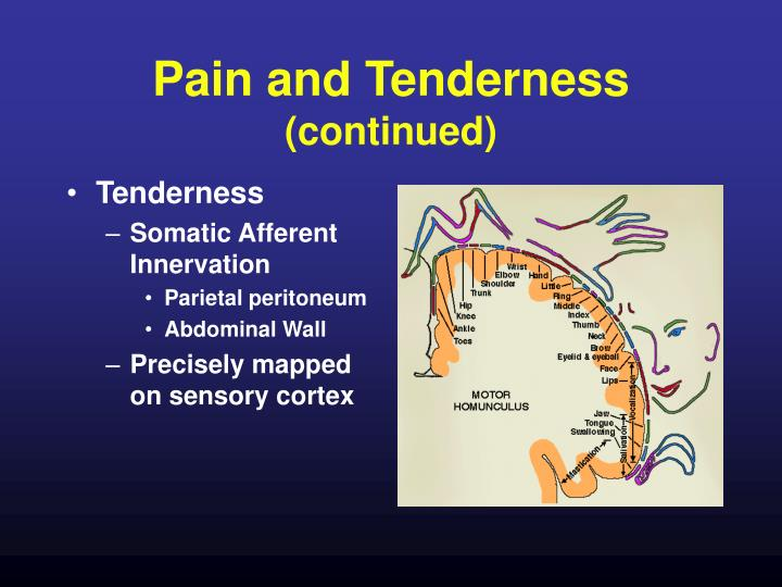 Pain and Tenderness