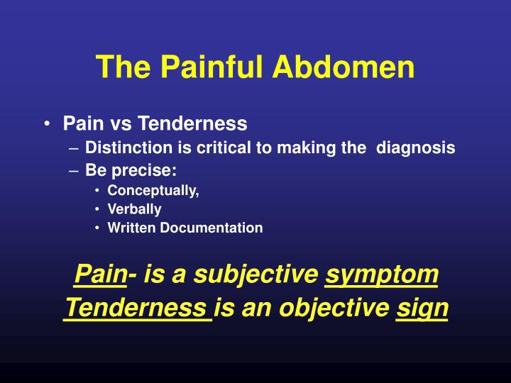 The Painful Abdomen