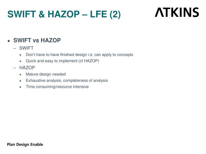 SWIFT & HAZOP – LFE (2)