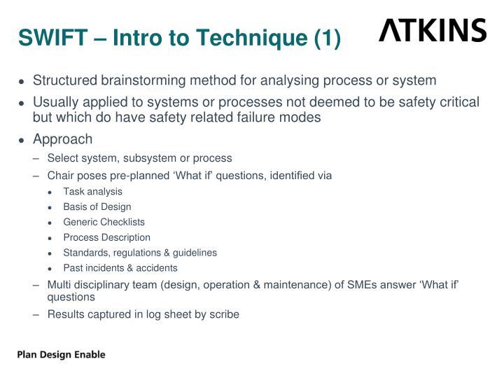 SWIFT – Intro to Technique (1)