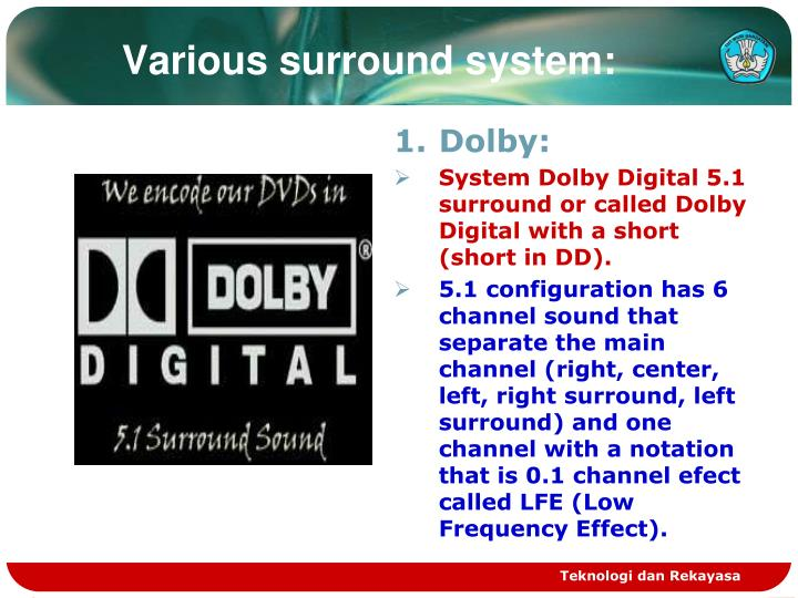 Various surround system: