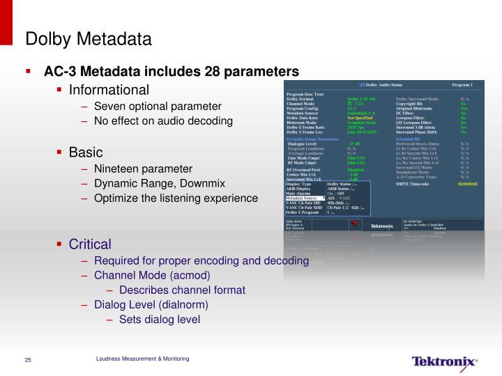 Dolby Metadata