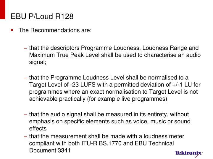 EBU P/Loud R128