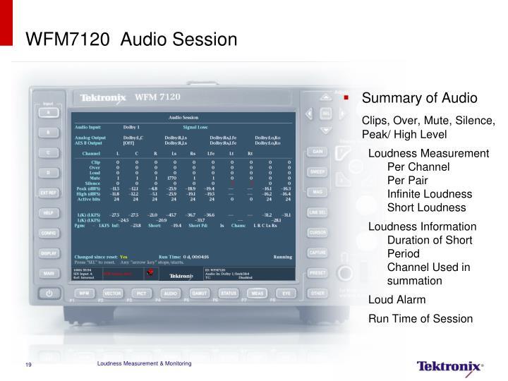 WFM7120  Audio Session