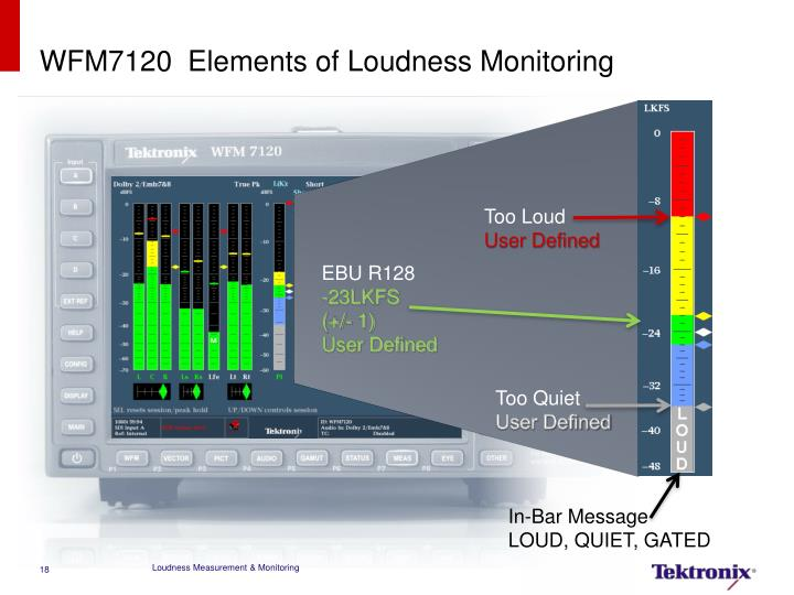 WFM7120  Elements of Loudness Monitoring