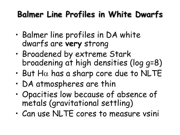 Balmer Line Profiles in White Dwarfs