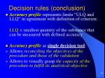 decision rules conclusion