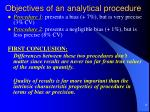 objectives of an analytical procedure3