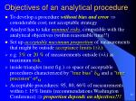 objectives of an analytical procedure4