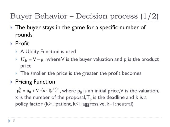 Buyer Behavior – Decision process (1/2)