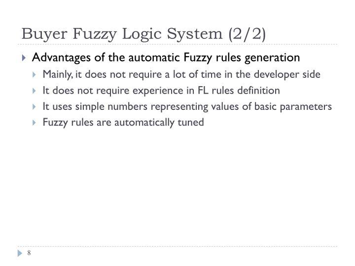 Buyer Fuzzy Logic System (2/2)