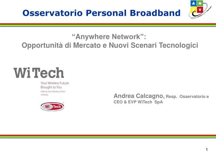 Osservatorio personal broadband