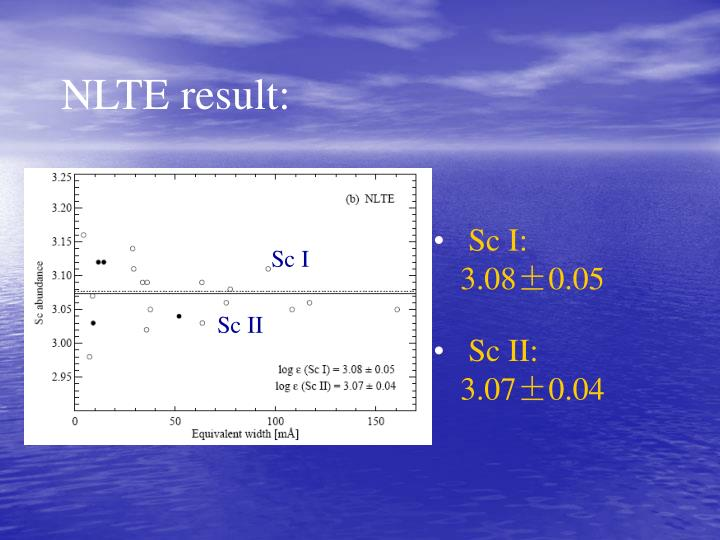 NLTE result: