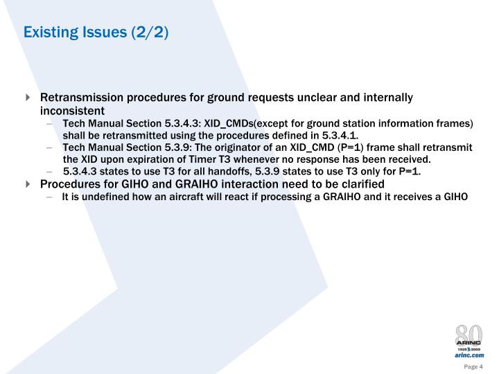 Retransmission procedures for ground requests unclear and internally inconsistent