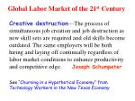 global labor market of the 21 st century