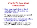 why do we care about globalization