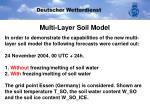 multi layer soil model