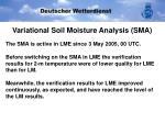 variational soil moisture analysis sma