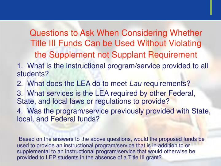 Questions to Ask When Considering Whether