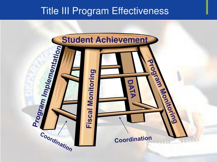 Title III Program Effectiveness