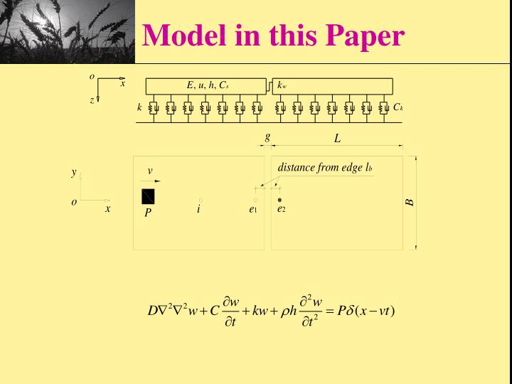 Model in this Paper