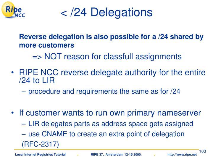< /24 Delegations