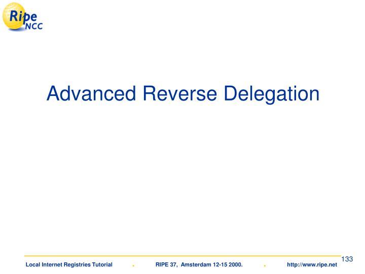 Advanced Reverse Delegation
