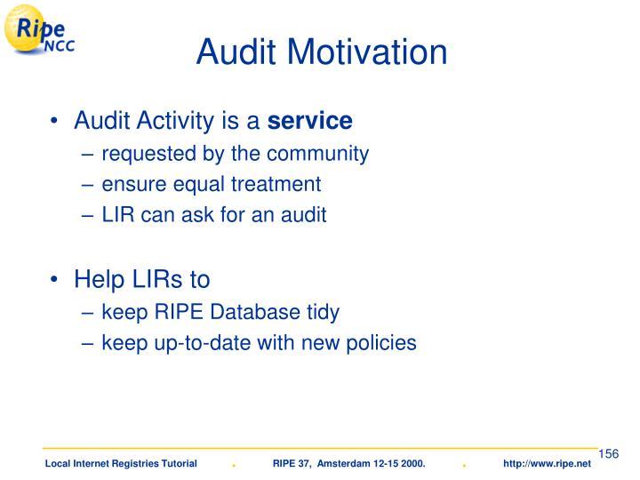 Audit Motivation