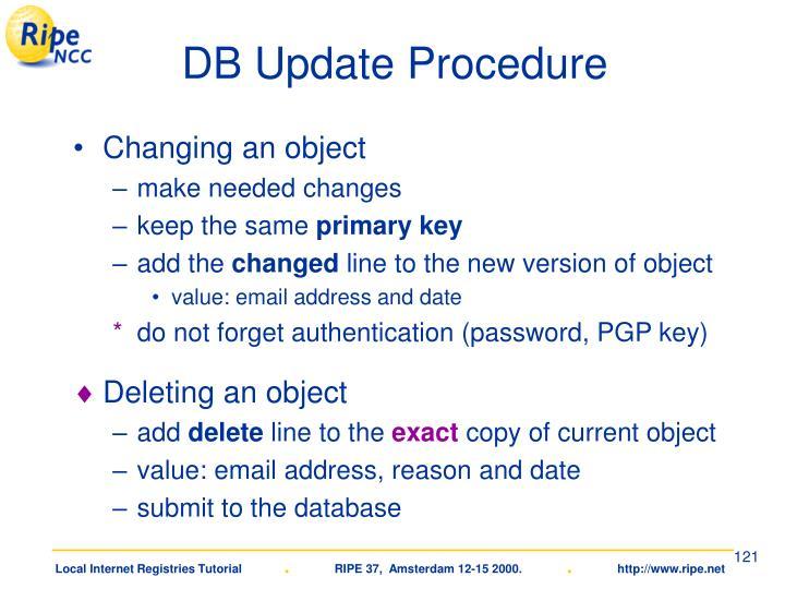 DB Update Procedure