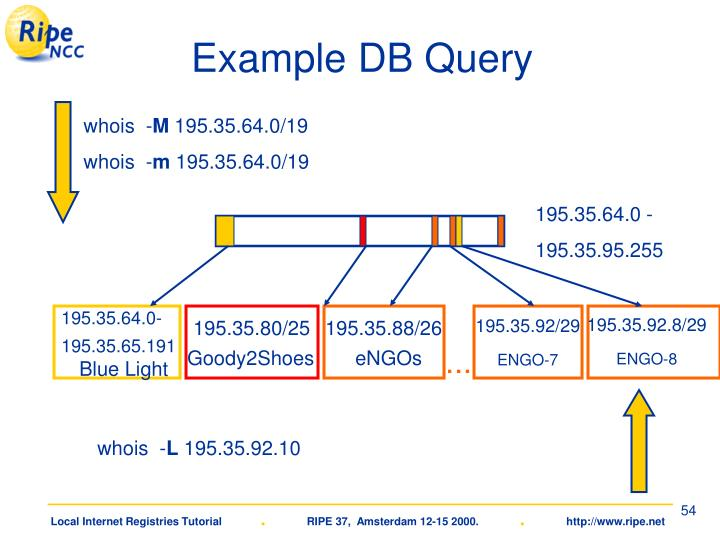 Example DB Query