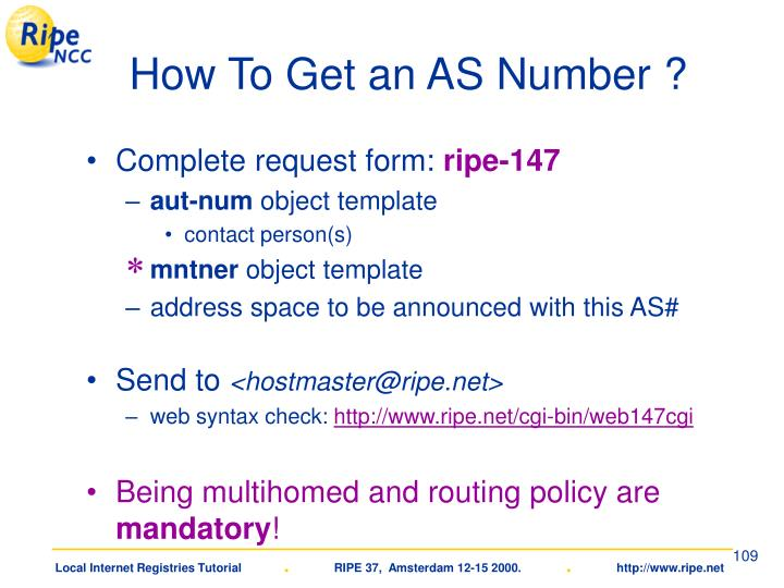 How To Get an AS Number ?