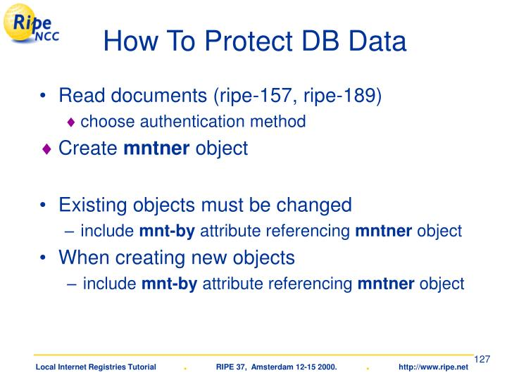 How To Protect DB Data