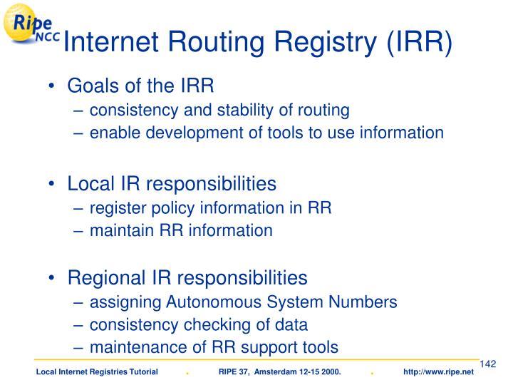 Internet Routing Registry (IRR)