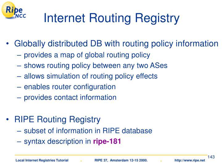 Internet Routing Registry