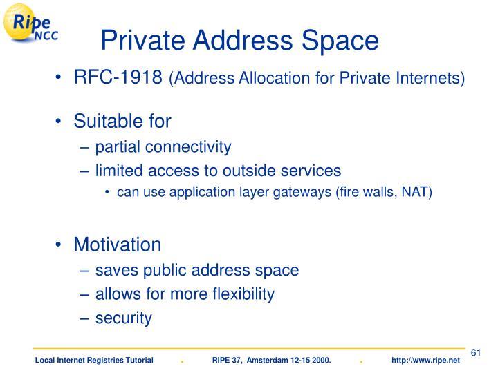 Private Address Space