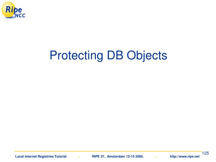 Protecting DB Objects