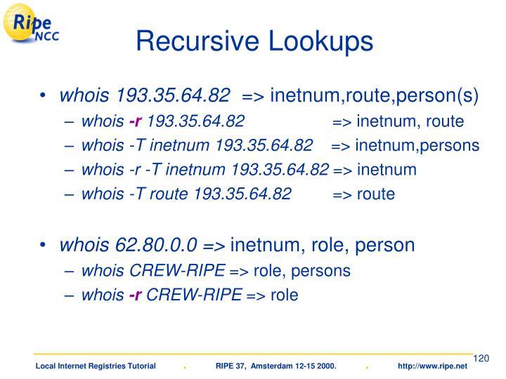 Recursive Lookups