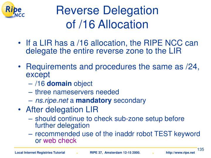 Reverse Delegation