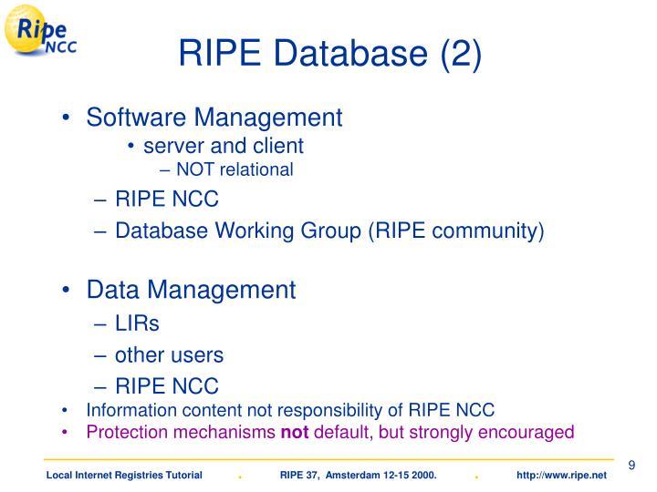 RIPE Database (2)