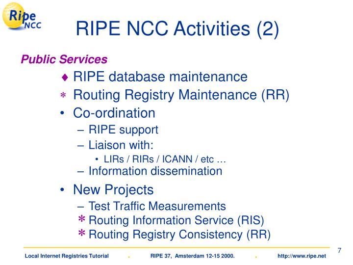 RIPE NCC Activities (2)