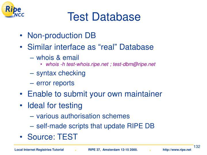 Test Database