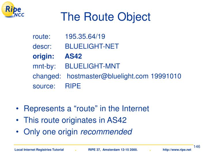 The Route Object