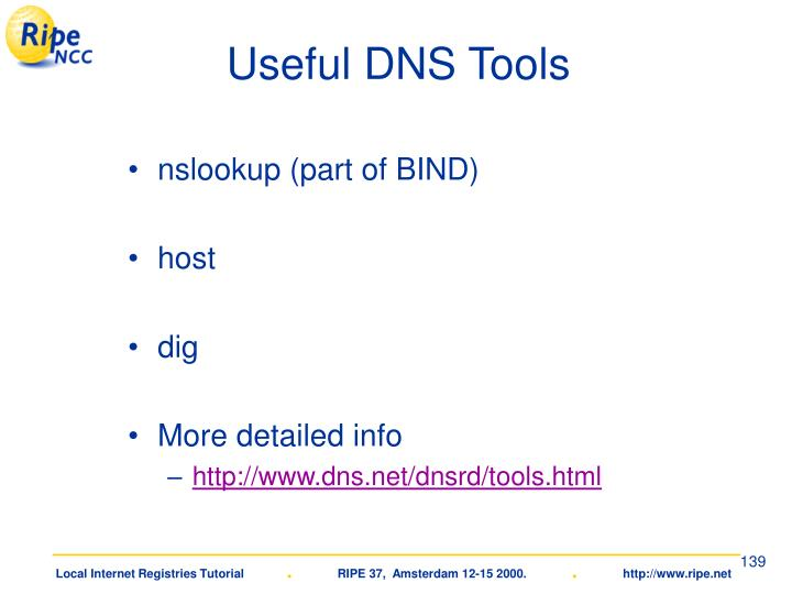 Useful DNS Tools