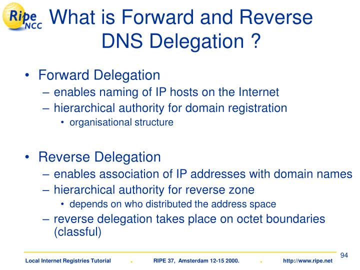What is Forward and Reverse DNS Delegation ?
