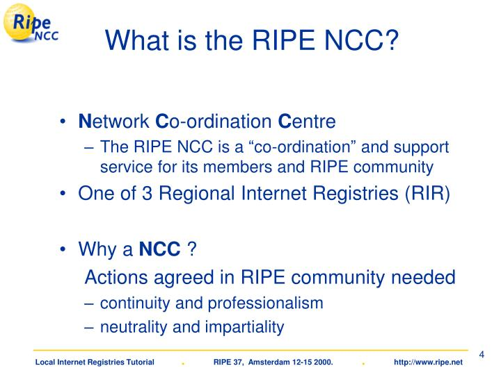 What is the RIPE NCC?