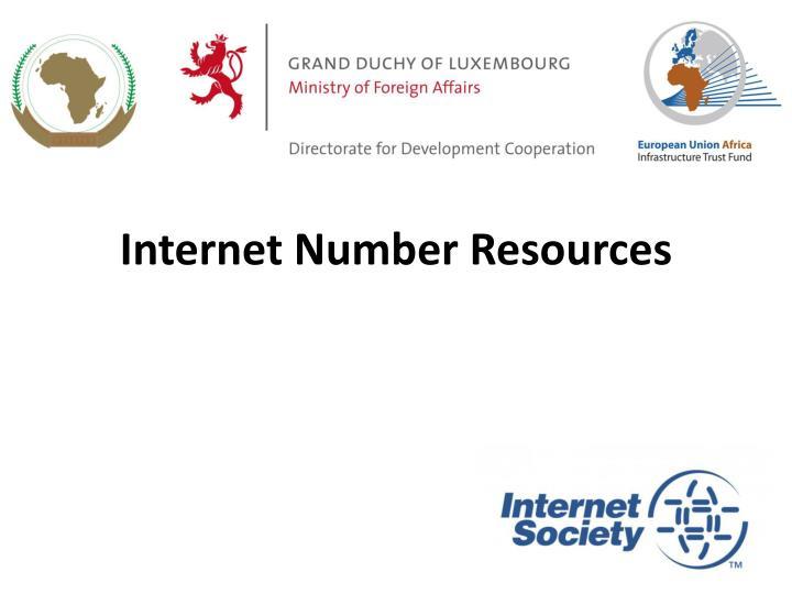 Internet number resources