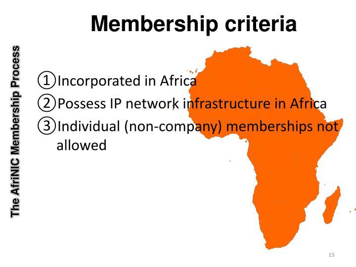 The AfriNIC Membership